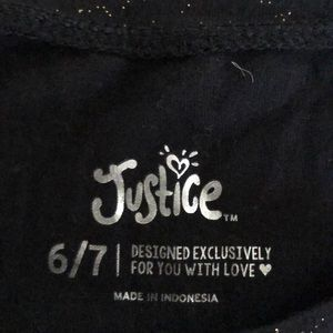 """Justice Shirts & Tops - Girls """"G"""" glitter shirt"""